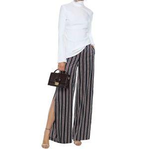 NWT CAMI NYC Miles Striped Silk Pants #JJ18